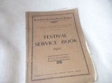 1922 FESTIVAL SERVICE BOOK MUSIC SATB ECCLESFIELD DEANERY CHORAL EVENSONG NOVELL